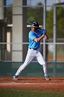 Breton Cusic (44) during the WWBA World Championship at Terry Park on October 10, 2020 in Fort Myers, Florida.  Breton Cusic, a resident of Lakeland, Florida who attends McKeel Academy of Technology.  (Mike Janes/Four Seam Images)