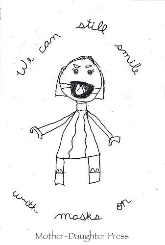 """Still Smiling"" Drawing by Lulu Charrette, Grade 3, Yarmouth, ME, USA"
