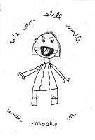 """Still Smiling"" Drawing by Lulu Charrette, Grade 3, Yarmouth, ME, USA"