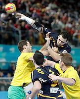Spain's Carlos Ruesga Pasarin during 23rd Men's Handball World Championship preliminary round match.January 15,2013. (ALTERPHOTOS/Acero) /NortePhoto