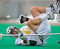 1 April 2008: University of Vermont Catamounts' Aaron Shore, a Senior from Ithaca, NY, in action against the Fairfield University Stags at Moulton Winder Field, in Burlington, Vermont. The Catamounts rallied to overcome a five goal deficit and defeat the visiting Stags 9-8 notching their third win of the season...Mandatory Photo Credit: Ed Wolfstein Photo