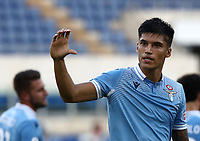 Football, Serie A: S.S. Lazio - Brescia, Olympic stadium, Rome, July 29, 2020. <br /> Lazio's Carlos Joaquin Correa celebrates after scoring during the Italian Serie A football match between S.S. Lazio and Brescia at Rome's Olympic stadium, Rome, on July 29, 2020. <br /> UPDATE IMAGES PRESS/Isabella Bonotto