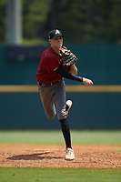 Tyler Dean (21) of William Byrd HS in Vinton, VA playing for the Arizona Diamondbacks scout team during the East Coast Pro Showcase at the Hoover Met Complex on August 5, 2020 in Hoover, AL. (Brian Westerholt/Four Seam Images)