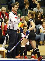 Trainer Akim Bouchouchi, Nike Lorenz ab <br /> / Sport / Hockey Hnhockey / World Championships Weltmeisterschaft Damen /  2017/2018 / 07.02.2018 / GER BRGermany vs. Namibia *** Local Caption *** © pixathlon<br /> Contact: +49-40-22 63 02 60 , info@pixathlon.de