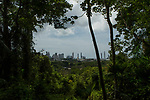 Tropical rainforest and city, Metropolitan Natural Park, Panama City, Panama