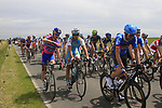 The peloton pass through flat farmland near the village of Limont during Stage 2 of the 99th edition of the Tour de France 2012, running 207.5km from Vise to Tournai, Belgium. 2nd July 2012.<br /> (Photo by Eoin Clarke/NEWSFILE)