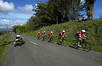 Scots College A u20 boys in action during the 2017 NZ Schools Road Cycling championships day one team time trials at Koputaroa Road near Levin, New Zealand on Saturday, 30 September 2017. Photo: Dave Lintott / lintottphoto.co.nz