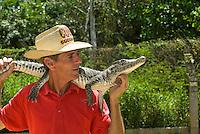 Cuba, Krokodilfarm  in La Boca auf der Halbinsel Zapata, Fernando