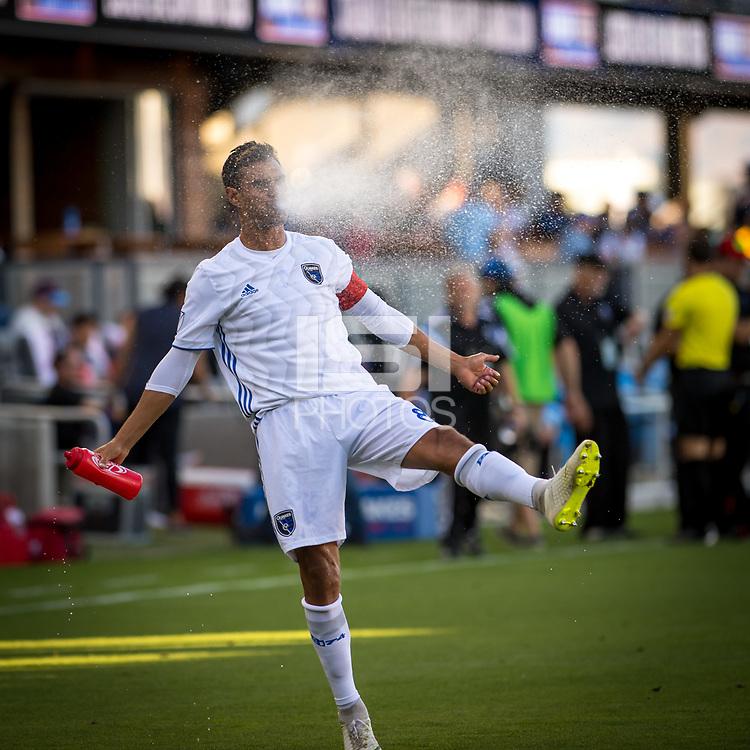 SAN JOSÉ CA - JULY 27:Chris Wondolowski #8 during a Major League Soccer (MLS) match between the San Jose Earthquakes and the Colorado Rapids on July 27, 2019 at Avaya Stadium in San José, California.