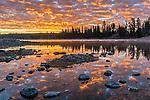 Sunrise over Yellowstone River, Yellowstone National Park, Wyoming