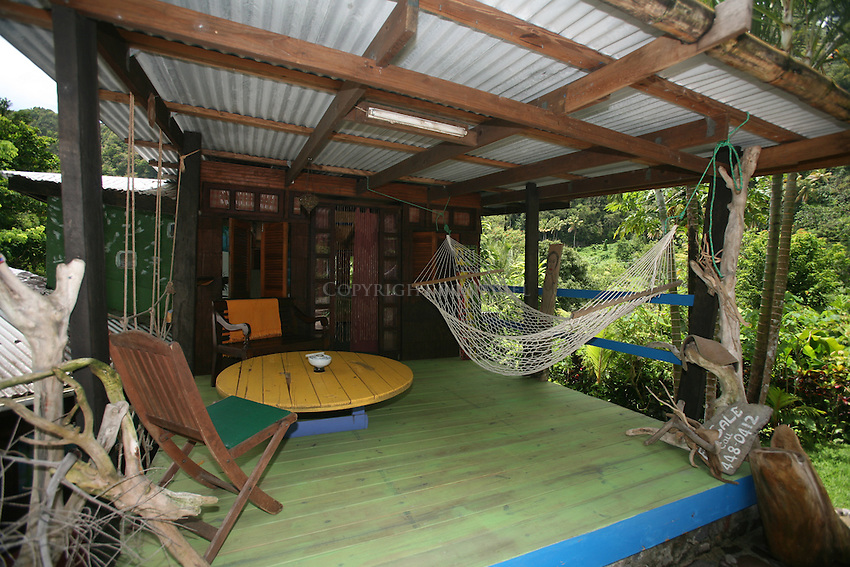 Exterior of cottage at Cocoa Cottages, Trafalgar, Dominica