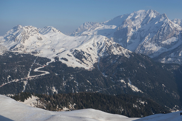 Belvedere Ski Area and Mt Marmolada, from Col Rodella Ski Area, Val Gardena, Italy. .  John offers private photo tours in Denver, Boulder and throughout Colorado, USA.  Year-round. .  John offers private photo tours in Denver, Boulder and throughout Colorado. Year-round.