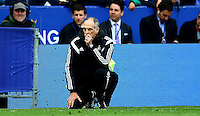 Swansea City Manager Francesco Guidolin during the Barclays Premier League match between Leicester City and Swansea City played at The King Power Stadium, Leicester on 24th April 2016