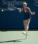 Agnieszka Radwanska (POL) loses to Caroline Wozniacki (DEN)  6-4, 7-6(5) at the Western & Southern Open in Mason, OH on August 15, 2014.