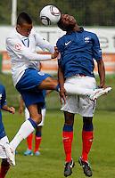 Soccer, UEFA U-17.France Vs. England.Nathan redmond, left and Karl Madianga.Indjija, 03.05.2011..foto: Srdjan Stevanovic