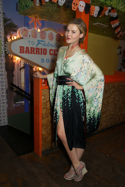 Amber Atherton from Made in Chelsea at the Myflashtrash Halloween Party at Barrio, Soho, London