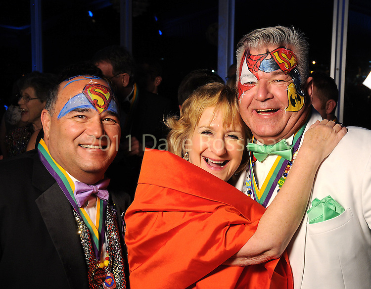 From left: V.J. Tramonte, Terry Estes and Jack Williams at the 20th San Luis Salute Friday Feb. 05, 2016.(Dave Rossman photo)