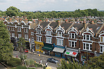 Barnes southwest London Uk. Church road parade of shops. This is the extension of what is Barnes high street.