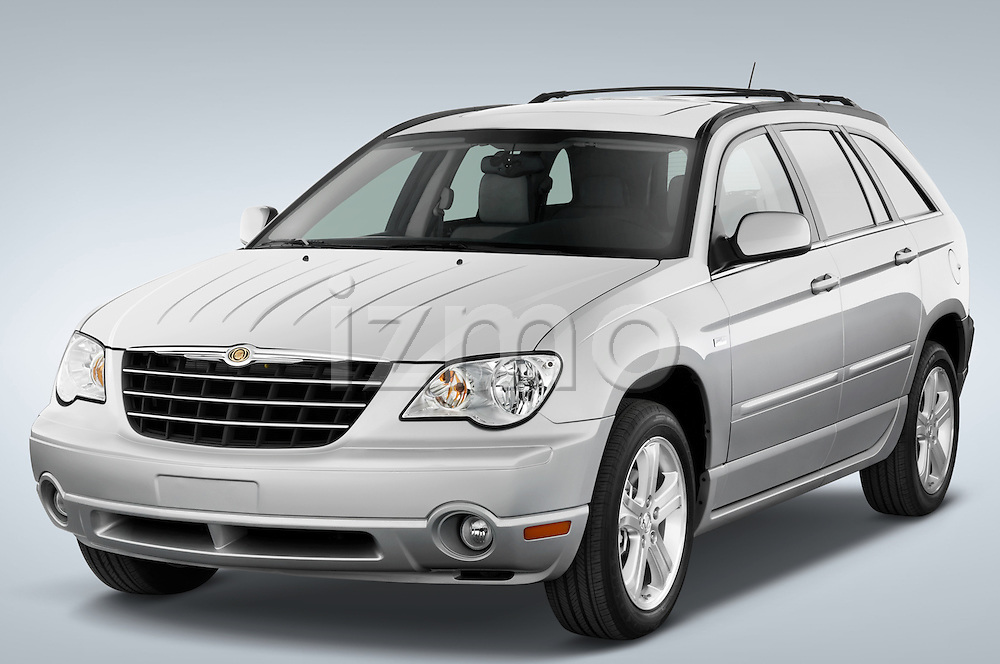 Front three quarter view of a 2008 Chrysler Pacifica.