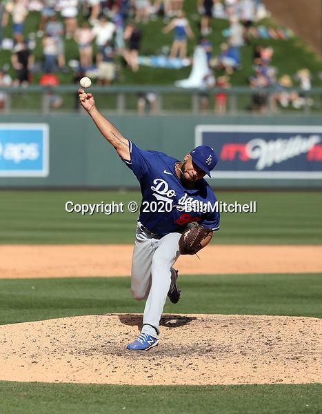 Jordan Sheffield - Los Angeles Dodgers 2020 spring training (Bill Mitchell)