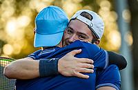 Netherlands, Oktober 24,  2021, Zuidwolde,  KIA Competition Men, premier league,  Suthwalda vs Spijkenisse, Suthwalde cellebrates their win<br /> Photo: Henk Koster/tennisimages.com