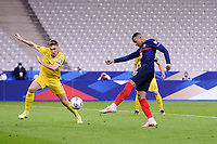 24th March 2021; Stade De France, Saint-Denis, Paris, France. FIFA World Cup 2022 qualification football; France versus Ukraine;  10 KYLIAN MBAPPE (FRA) -shoots past SERHIY SYDORCHUK (UKR)
