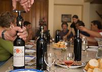 Europe/France/Aquitaine/33/Gironde/Listrac-Médoc:Château Cap-Léon Veyrin Cru Bourgeois de la Famille Meyre-Lors du repas des vendanges