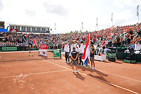15-09-12, Netherlands, Amsterdam, Tennis, Daviscup Netherlands-Suisse, the players are presented