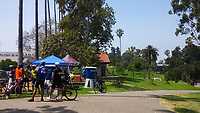 The Hollenbeck Park rest stop during the 2017 (17th annual) Los Angeles River Ride.