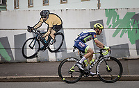 (former yellow jersey wearer) Jan Bakelants (BEL/Intermarché - Wanty - Gobert) rolling through Châteaulin<br /> <br /> Stage 1 from Brest to Landerneau (198km)<br /> 108th Tour de France 2021 (2.UWT)<br /> <br /> ©kramon