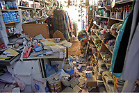 Pictured: Stock has been thrown onto the floor of a shop in Plomari, Lesbos, Greece. Monday 12 June 2017<br /> Re: A strong earthquake has rocked the Greek island of Lesbos, injuring 10 people and damaging dozens of homes at the Brit tourist hotspot.<br /> The magnitude 6.2 quake struck off the coast of western Turkey close to the islands of Samos and Lesbos, which are hugely popular with holidaymakers.