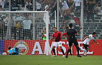 11th March 2020; Estadio Monumental David Arellano; Santiago, Chile; Copa Libertadores, Colo Colo versus Athletico Paranaense; Pablo Mouche of Colo-Colo celebrates his goal in the 11th minute 1-0