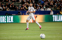 CARSON, CA - MARCH 07: Giancarlo Gonzalez of the Los Angeles Galaxy moves to the ball during a game between Vancouver Whitecaps and Los Angeles Galaxy at Dignity Health Sports Park on March 07, 2020 in Carson, California.