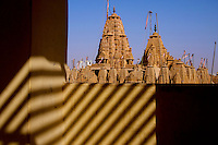"View of the Jain Temple in Jaisalmer, the ""Golden City,"" is located on the westernmost frontier of India in the state of Rajasthan. Close to the Pakistan border, the city is known for its proximity to the Thar Desert.<br />