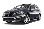 Stock pictures of low aggressive front three quarter view of 2015 BMW 2 Series Gran Tourer Luxury 5 Door Mini Mpv Low Aggressive