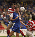 06/08/2002                   Copyright Pic : James Stewart.File Name : stewart-st john v hamilton 01.HAMILTON'S IAN DOBBINS AND ST JOHNSTONE'S IAN MAXWELL CHALLENGE FOR THE BALL......Payments to :-.James Stewart Photo Agency, 19 Carronlea Drive, Falkirk. FK2 8DN      Vat Reg No. 607 6932 25.Office     : +44 (0)1324 570906     .Mobile  : +44 (0)7721 416997.Fax         :  +44 (0)1324 570906.E-mail  :  jim@jspa.co.uk.If you require further information then contact Jim Stewart on any of the numbers above.........