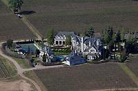 aerial photograph of Brave & Maden Estate; 649 N. Rufugio Rd; Santa Ynez, Santa Ynez, Santa Barbara County, California