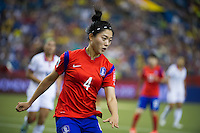 MONTREAL, Canada - Saturday June 13, 2015: Costa Rica takes on Korea Republic  in Group E at the Women's World Cup Canada 2015 at Olympic Stadium in Montreal, Quebec, Canada.