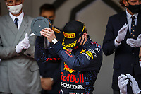 23rd May 2021; Principality of Monaco; F1 Grand Prix of Monaco,   Race Day;   VERSTAPPEN Max ned, Red Bull Racing Honda RB16B,  podium celebrations after his win