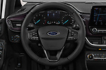 Car pictures of steering wheel view of a 2018 Ford Fiesta Vignale Base 5 Door Hatchback
