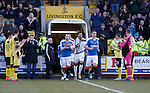 Livingston form a guard of honour for Rangers