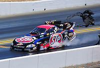 Jul. 30, 2011; Sonoma, CA, USA; NHRA funny car driver Tony Pedregon during qualifying for the Fram Autolite Nationals at Infineon Raceway. Mandatory Credit: Mark J. Rebilas-