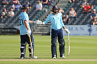 Tom Westley and Aron Nijjar in batting action for Essex during Gloucestershire vs Essex Eagles, Royal London One-Day Cup Cricket at the Bristol County Ground on 3rd August 2021