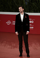 """Italian director Nicolangelo Gelomini poses on the red carpet for the screening of the film """"Les Discours"""" during the 15th Rome Film Festival (Festa del Cinema di Roma) at the Auditorium Parco della Musica in Rome on October 19, 2020.<br /> UPDATE IMAGES PRESS/Isabella Bonotto"""