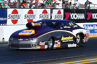 Jul. 25, 2014; Sonoma, CA, USA; NHRA pro stock driver Vincent Nobile during qualifying for the Sonoma Nationals at Sonoma Raceway. Mandatory Credit: Mark J. Rebilas-