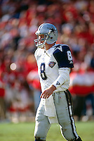SAN FRANCISCO, CA - Portrait of quarterback Troy Aikman of the Dallas Cowboys on the sidelines during the NFC Championship game against the San Francisco 49ers at Candlestick Park in San Francisco, California in 1995. Photo by Brad Mangin