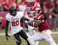 NWA Democrat-Gazette/BEN GOFF @NWABENGOFF<br /> Alex Collins, Arkansas running back, scores a touchdown in the first quarter on Saturday Sept. 19, 2015 during the game in Razorback Stadium in Fayetteville.
