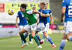 St Johnstone v Hibs……23.08.20   McDiarmid Park  SPFL<br />Joe Newell holds off Ali McCann<br />Picture by Graeme Hart.<br />Copyright Perthshire Picture Agency<br />Tel: 01738 623350  Mobile: 07990 594431