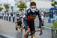 Belgian National Champion Wout Van Aert (BEL/Jumbo Visma) at the pre Tour teams presentation of the 108th Tour de France 2021 in Brest at le Grand Départ.