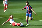 Liga IBERDROLA 2020-2021. Jornada: 10<br /> FC Barcelona vs Santa Teresa: 9-0.<br /> Sini Laaksonen vs Melanie Serrano.